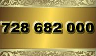 zlaté  číslo - 728 682 000  -  O2