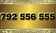 zlaté  číslo - 792 556 555