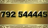 zlaté  číslo - 792 544445