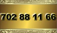 zlaté  číslo - 702 88 11 66