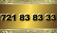 zlaté  číslo - 721 83 83 33 - O2