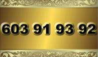zlaté  číslo - 603 91 93 92  T-mobile