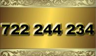 zlaté  číslo - 722 244 234  -  O2