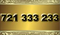 zlaté  číslo - 721 333 233 - O2