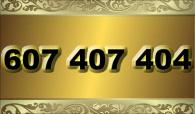 zlaté  číslo - 607 407 404 - O2