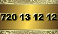 zlaté  číslo - 720 13 12 12 - O2
