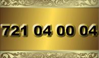 zlaté  číslo - 721 04 00 04 - O2