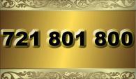 zlaté  číslo - 721 801 800 - O2