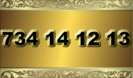 zlaté číslo - 734 14 12 13  T-mobile