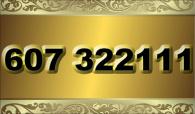 zlaté  číslo - 607 322 111 - O2