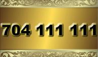 zlaté  číslo  - 704 111 111