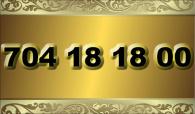 zlaté  číslo - 704 18 18 00