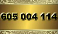 zlaté  číslo - 605 004 114 - T-mobile