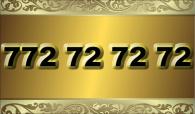 zlaté číslo -  772 72 72 72