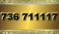 zlaté  číslo - 736 711117  T-mobile