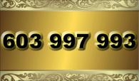 zlaté  číslo - 603 997 993  T-mobile
