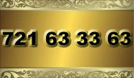 zlaté  číslo - 721 63 33 63 - O2