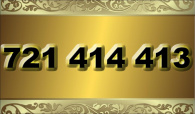 zlaté  číslo - 721 414 413 - O2