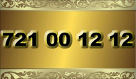 zlaté  číslo - 721 00 12 12 - O2