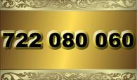 zlaté  číslo - 722 080 060 -  O2