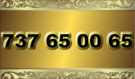 zlaté  číslo - 737 65 00 65  T-mobile