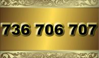 zlaté  číslo - 736 706 707 T-mobile