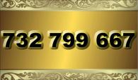 zlaté  číslo - 732 799 667 T-mobile