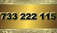 zlaté  číslo - 733 222 115 T-mobile