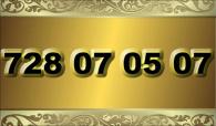 zlaté  číslo - 728 07 05 07  -  O2