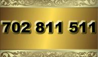 zlaté  číslo - 702 811 511