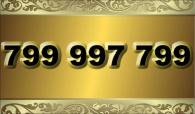 zlaté číslo -  799 997 799