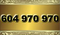 zlaté  číslo - 604 970 970   T-mobile