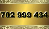 zlaté  číslo - 702 999 434