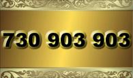 zlaté  číslo - 730 903 903