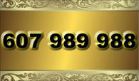 zlaté  číslo - 607 989 988 - O2