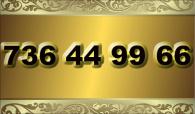 zlaté  číslo - 736 44 99 66 T-mobile