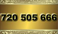 zlaté  číslo - 720 505 666 - O2