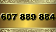 zlaté  číslo - 607 889 884 - O2